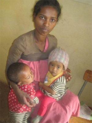 Family in Samerro, Ethiopia